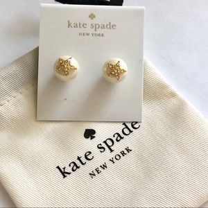 Kate  Spade faux pearl stud earrings